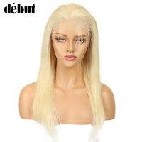 Дебют Синтетические волосы на кружеве человеческих волос Парики Бразильский Реми Прямые 613 Синтетические волосы на кружеве парик блондинк