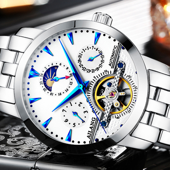 Men Automatic Mechanical Watch Fashion Casual Stainless steel Military Sport Luxury Brand Self-Wind Watches Relogio Masculino