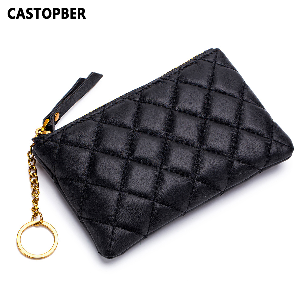 New Designer Mini Coin Purse Pouch Small Quilted Change Wallet Sheepskin Genuine Leather Girls Bags Fashion Famous Brand Quality 100% brand new and high quality student macaron bow serie fashion change purse ap3