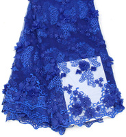 Royal Blue French Lace Fabric With Stones African Lace Fabric High Quality 2018 Net Lace Nigerian Material Dress