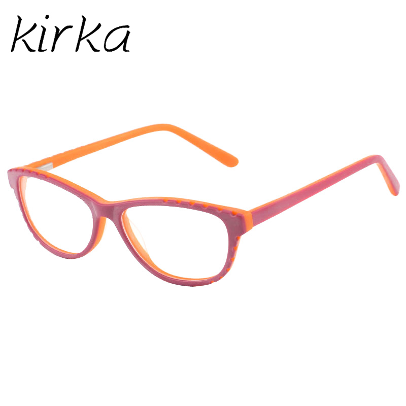 Kirka Children Eyeglasses Optical Frame Glasses Acetate Kids Flexible Spectacle Girls