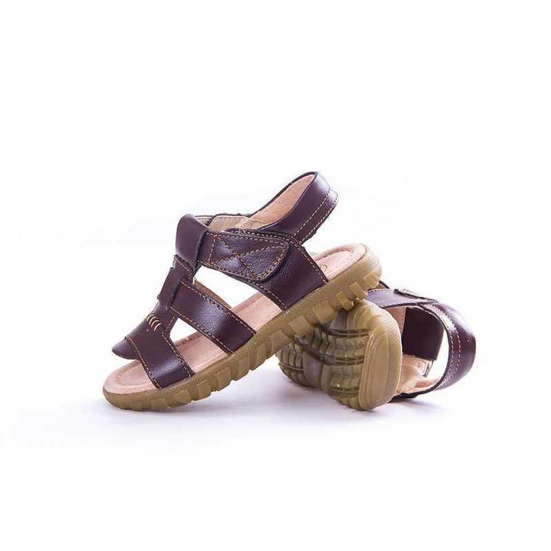 MAGGIES WALKER Boys Girls Sandals Roman Style Kids Gladiator Shoes Genuine Leather Sandals Summer Beach Shoes