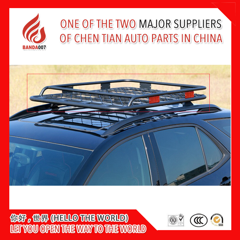 Universal Car Roof Frame with reflectors Iron grid Luggage Carrier Baggage Cross Bar Roof Rack Rails Box 1.2m 1.4m 1.6m