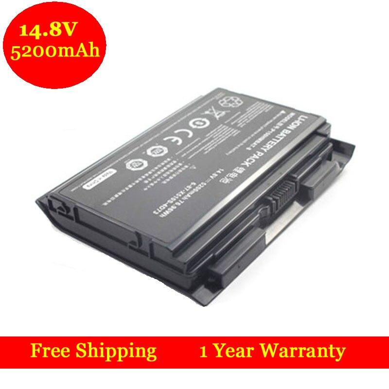 ФОТО 14.8V 5200mAh Battery for Clevo P150HMBAT-8 P150EM P151HM P150HMX P150SM P151 Laptop Battery 6-87-X510S-4D72 6-87-X510S-4D73