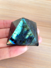 WBY---322+++Natural Moonstone natural labradorite pyramid Decoration