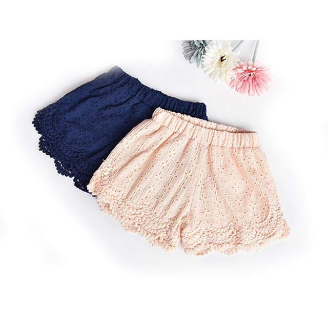 00705f5800fc Princess Lace Baby girls shorts Summer children shorts Cotton kids shorts  for girls clothes toddler baby clothing 2t-6
