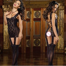 Sexy Women Erotic Lingerie Body Doll Black Lace Sex Costumes For Women Lady Sexy Lingerie Hot Dress Sleepwear Underwear