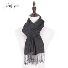 Jzhifiyer men 100%rayon soft black scarfs male cotton scarf pashmina shawl fashion warm cozy brand homme unisex shawls