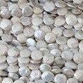 Branco natural cultivadas de água doce pérola beads coin rodada bolo fit pulseira fazer jóias 15 inch B1353 necklacce