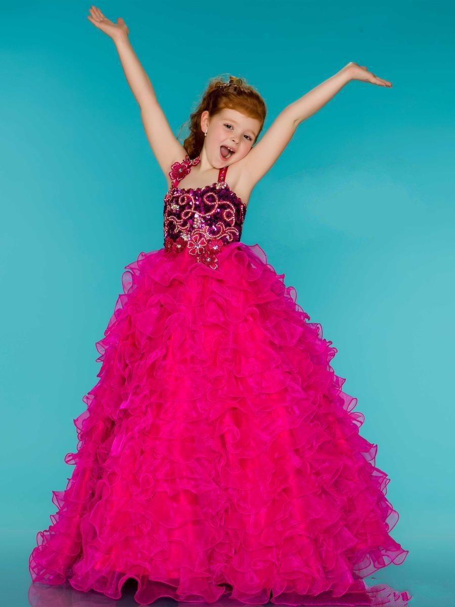 Новинка года; красивые платья с цветочным узором для девочек бальное платье с лямкой на шее; бусины Кристаллы с открытой спиной; праздничное платье из органзы на заказ для девочек - Цвет: Красный