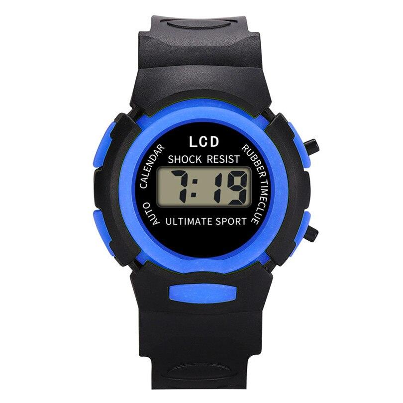 New Fashion Kid Watch Children Girls Analog Digital Sport LED Smart Electronic Waterproof Wrist Watch New Digital Wrist #4M15