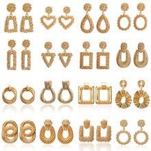 F40 New Vintage Drop kolczyki dla kobiet złoty/srebrny kolor duże geometryczne oświadczenie kolczyk 2019 moda kolczyk indie biżuteria