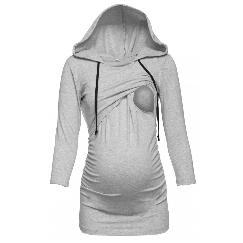 Telotuny verano mujeres embarazadas maternidad camisetas de lactancia ropa para las mujeres embarazadas de manga corta Camisa JL 24