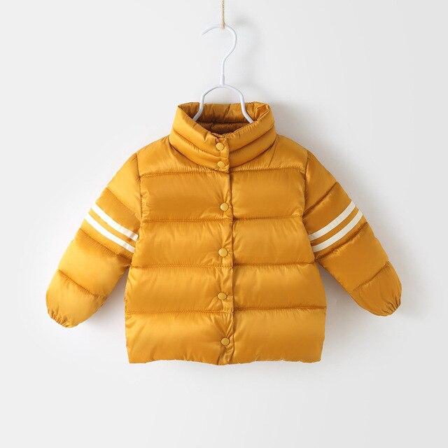 Children's Snow Wear Autumn Winter Kids Down Parkas Clothing Jacket Boys Fashion Outerwear Warm Baby Boy Girl Cotton Clothes