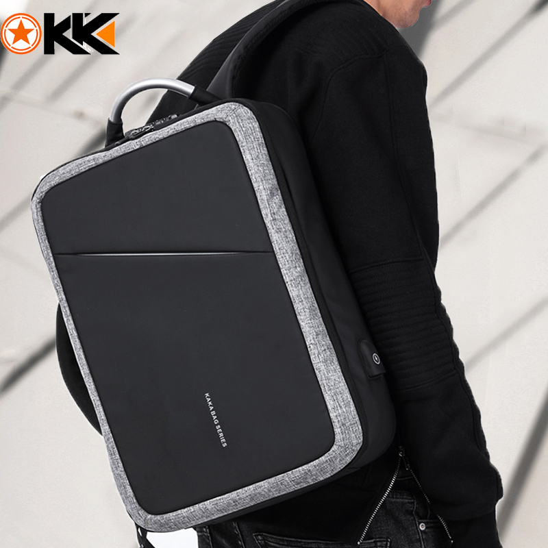 Рюкзак KAKA TSA мужской, водонепроницаемый, с защитой от кражи, без ключа, USB, 15,6 дюйма|antitheft backpack|backpack fashionbackpack male | АлиЭкспресс