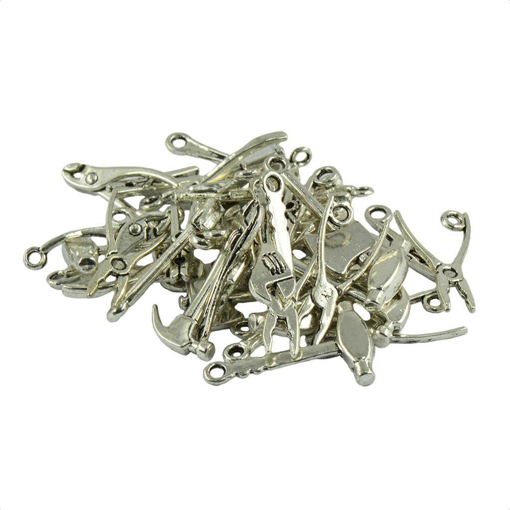 40Pcs טיבטי כסף DIY כלי קסמי פילר ברגים תליוני כלים bedels לשרשרת צמיד ממצאי קסמי להכנת תכשיטים