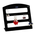Wholesale 2Pcs Black Acrylic Earring Jewelry Display Stand Holder Rack With 60 Holes