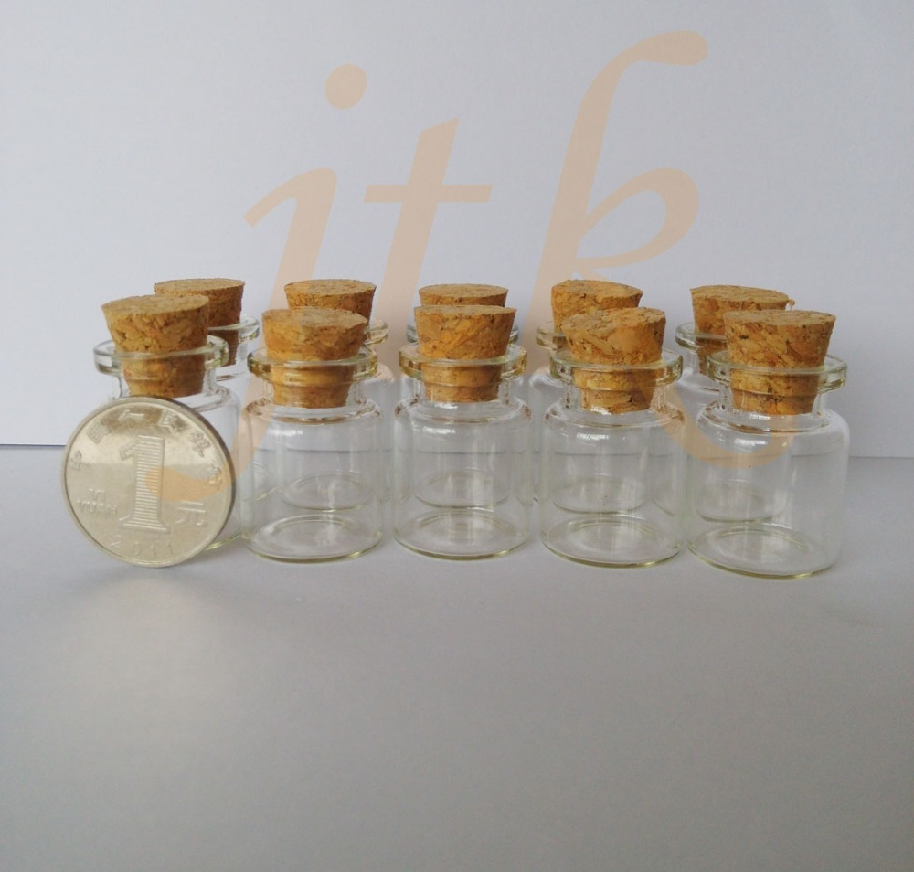 Wholesale 200 pcs 22*30mm 5ml small glass vials with cork tops bottles Little empty jars wholesale 200pcs 4ml 22 25mm small glass vials with cork tops bottles little empty jars