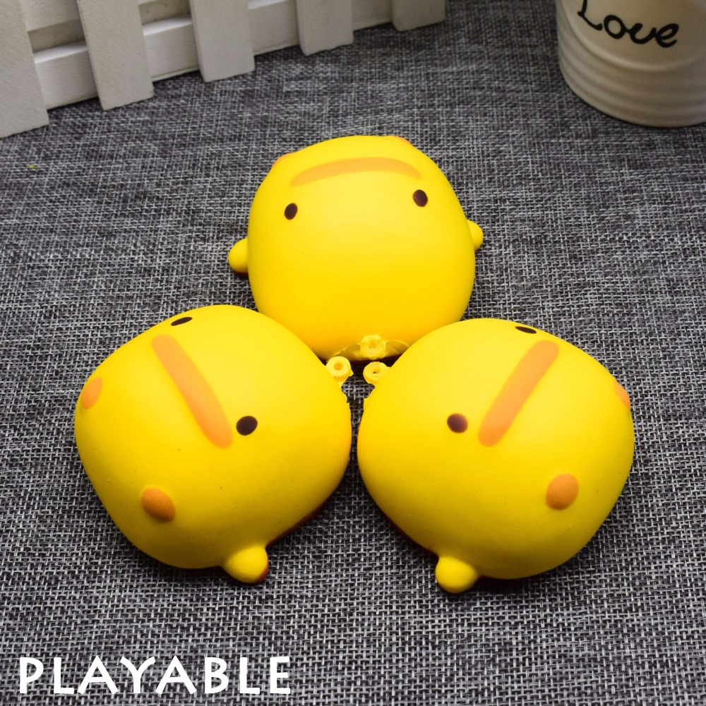 Squishy Slow Rebound Cute Yellow Simulation Duck For Children's Gifts Kawaii Squishy Anti-stress Toy To Relieve Release Pressure