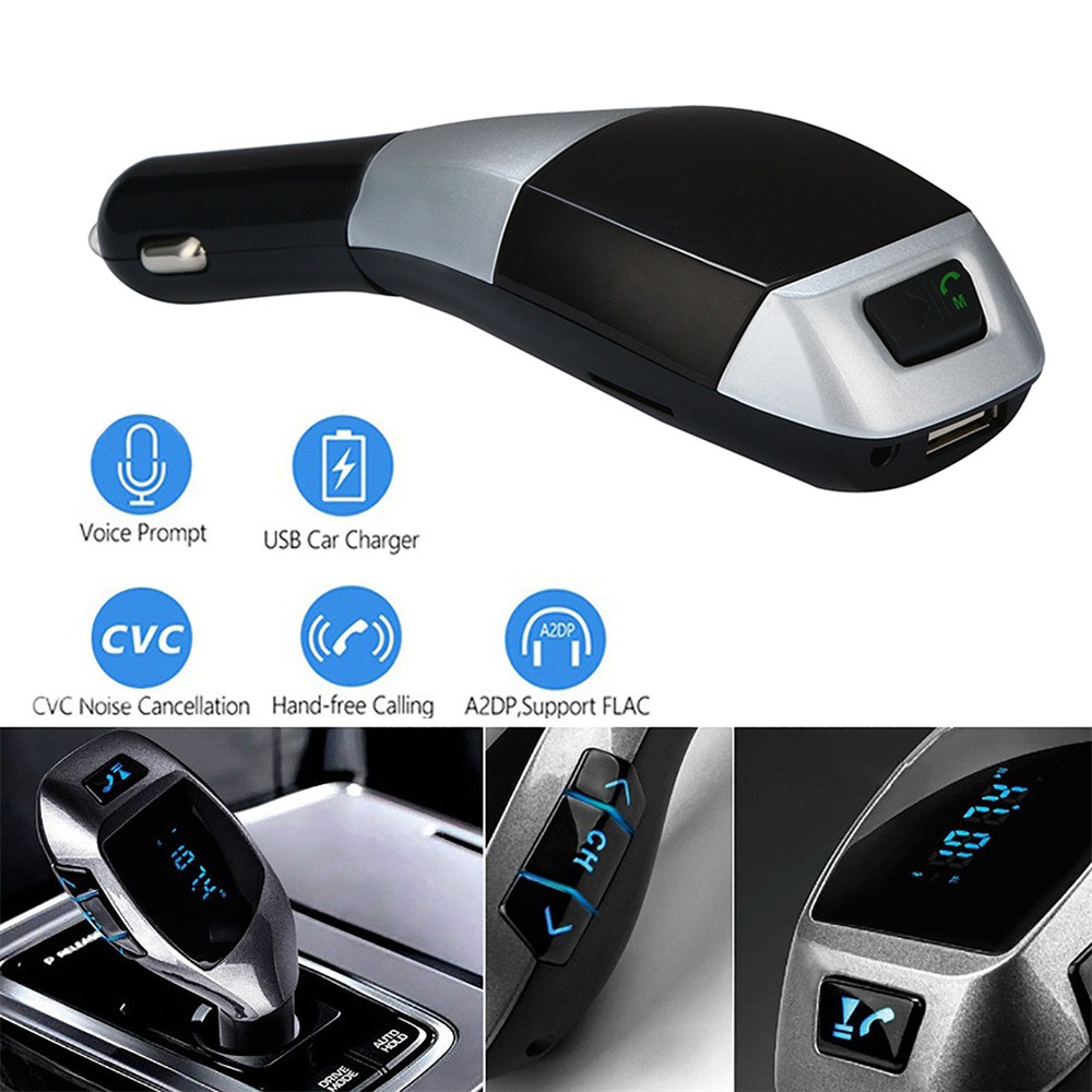 Wireless Bluetooth LCD FM Transmitter Modulator MP3 Player Car Kit SD MMC USB US