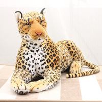 simulation animal 75cm spotted leopard plush toy simulation leopard doll d0788