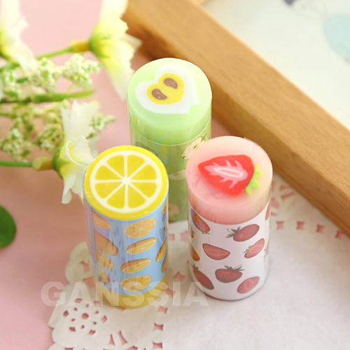 1PC Cute Fruit Erasers Cartoon Children Gift Rubber Earser Office Material Escolar School Stationery Supplies (ss-1412)