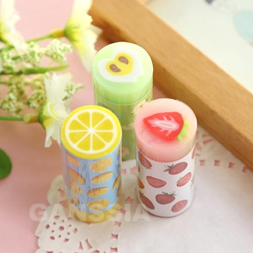 1PC Cute Fruit Erasers Cartoon Children Gift Rubber Earser Office Material Escolar School Stationery Supplies (ss-1412)