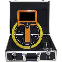 HBUDS Color 1000TVL 30m Cable 7'' TFT LCD Drain Inspection Camera With DVR Borescope Pipe Sewer Camera Portable Aluminum Case