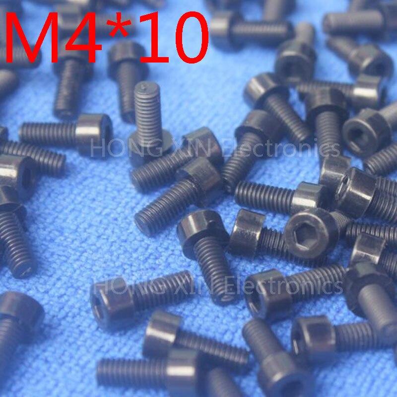 M4 * 10 noir 1 pièces Nylon intérieur six pans creux vis à tête cylindrique 10mm plastique boulon Insolation tout nouveau RoHS conforme PC/conseil bricolage