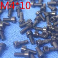 M4*10 Black 1pcs Nylon Inner Hexagon Socket Head Cap Screws 10mm Plastic Bolt Insolation brand new RoHS compliant PC/board DIY