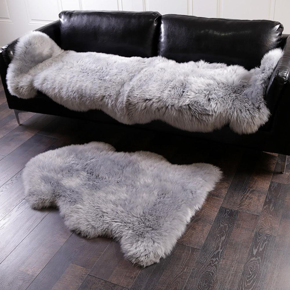 75*120 CM Faux Fur Fake Sheepskin White Sofa Couch Chair