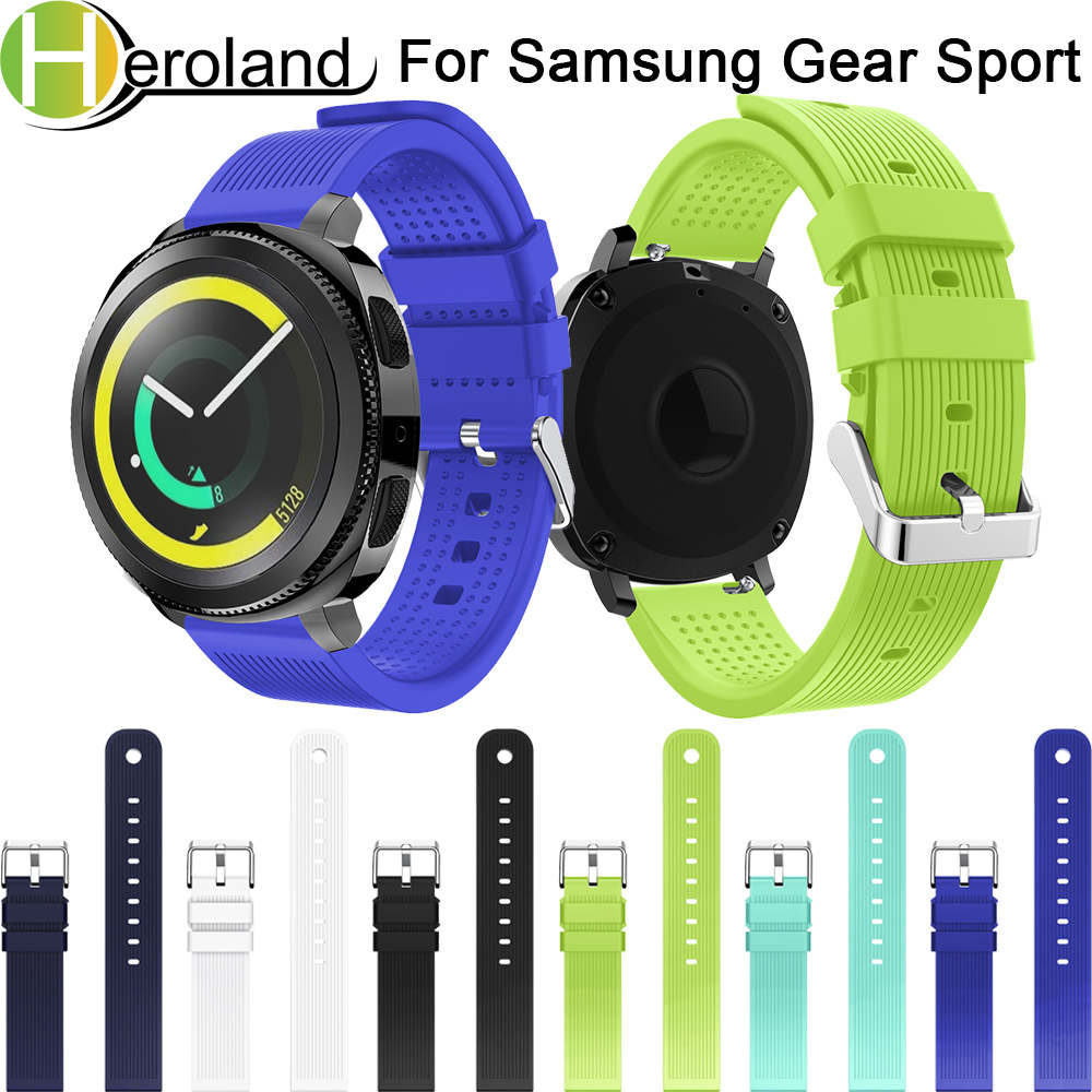 Soft Silicone Watch Band For Samsung Gear Sport 20mm Replacement Wristband Strap For Samsung Gear S2 Classic Lightweight Fashion