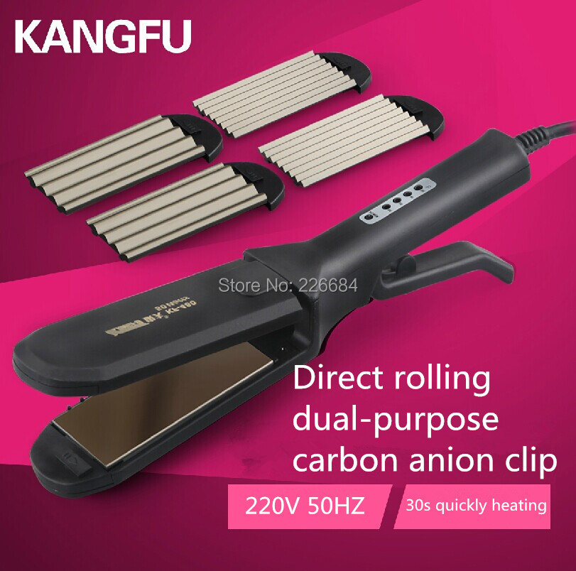 Straight iron hair Corn perm multi-function ceramic ionic hair straightener Intelligent temperature control Carbon anion clip фен elchim 3900 healthy ionic red 03073 07