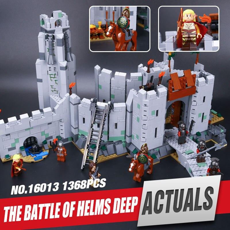 ФОТО Lepin 16013 Genuine The Lord of the Rings Series The Battle Of Helm' Deep Model Educational Building Blocks Bricks Toys 9474