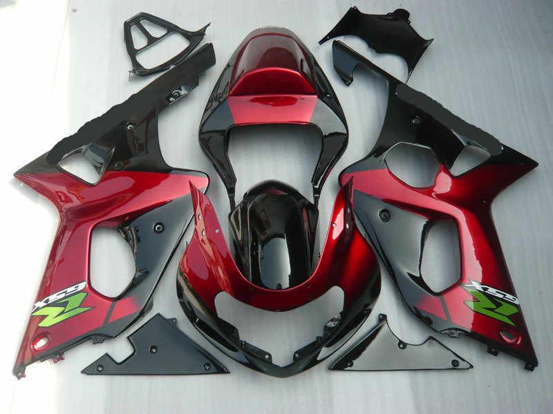 Мотоцикл обтекатель комплект для SUZUKI GSXR1000 K2 00 01 02 GSXR 1000 2000 2001 2002 ABS Горячие Красный