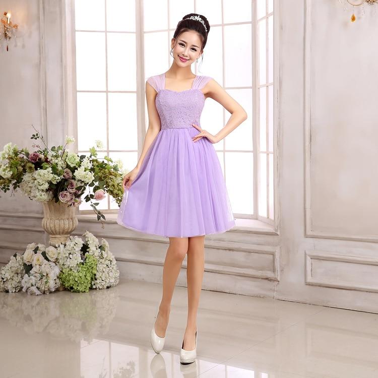 Pink Purple White Champagne Color Fairy Bridesmaid Dress Grace ...