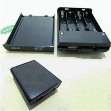 100pcs Black Plastic USB 5V Batteries Holder Storage AA Box For 4x AA Batteries Clip Slot Storage Holder Free Shipping
