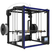 Hot 3D Printer X5S 2E X5ST 2E Double Feeding Port One Extrusion Head Full Aluminium Frame Kit Big Printing Size 330*330*400mm