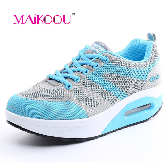 MAIKOOU Women Casual shoes 2017 New design Top Quality Women Vulcanize Shoes Breathable Mesh Lace-Up  fashion zapatos mujer