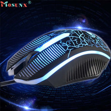 Mosunx Advanced Top Department high quality 1600 DPI 3D Buttons LED Wired Gaming Mouse For PC Laptop 1PC