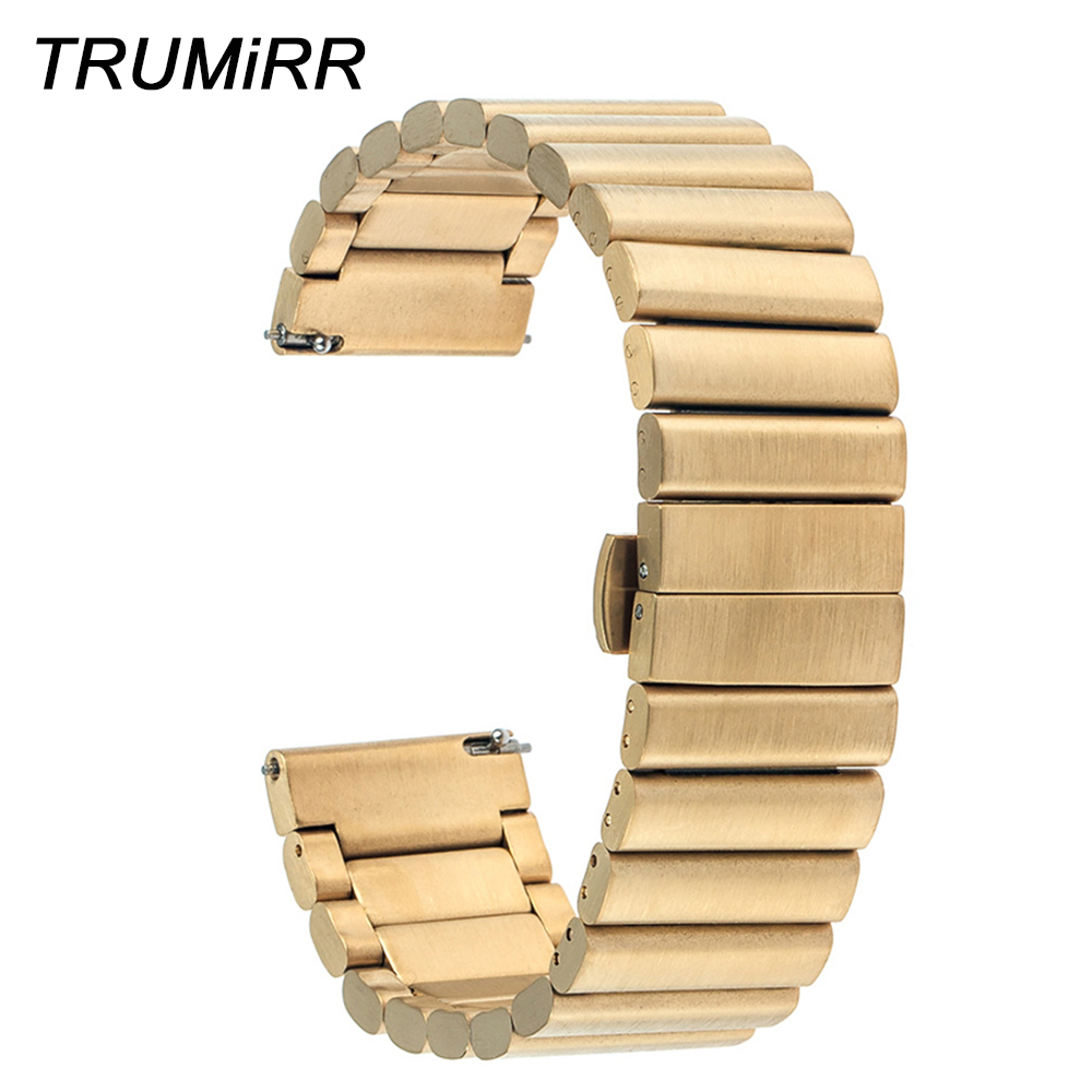 20mm Stainless Steel Watch Band for Moto 360 2 42mm 2015 Samsung Gear S2 Classic R7320 & R735 Butterfly Buckle Bracelet Strap new arrival 22mm butterfly stainless steel watch band strap bracelet for samsung gear s2 classic r7320 pebble time round