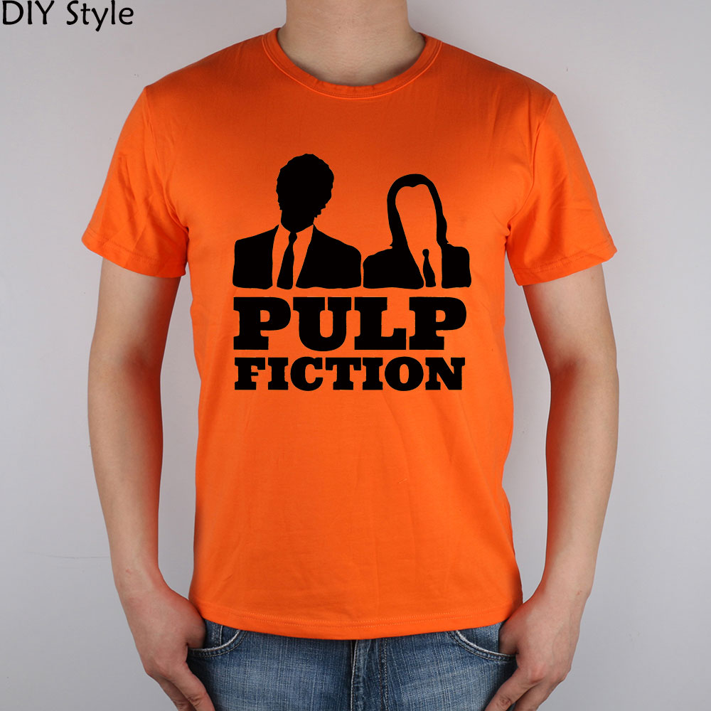 PULP FICTION WHY SO SERIOUS QUENTIN MOVIE short sleeve T-shirt Top Lycra Cotton Men T shirt New DIY Style