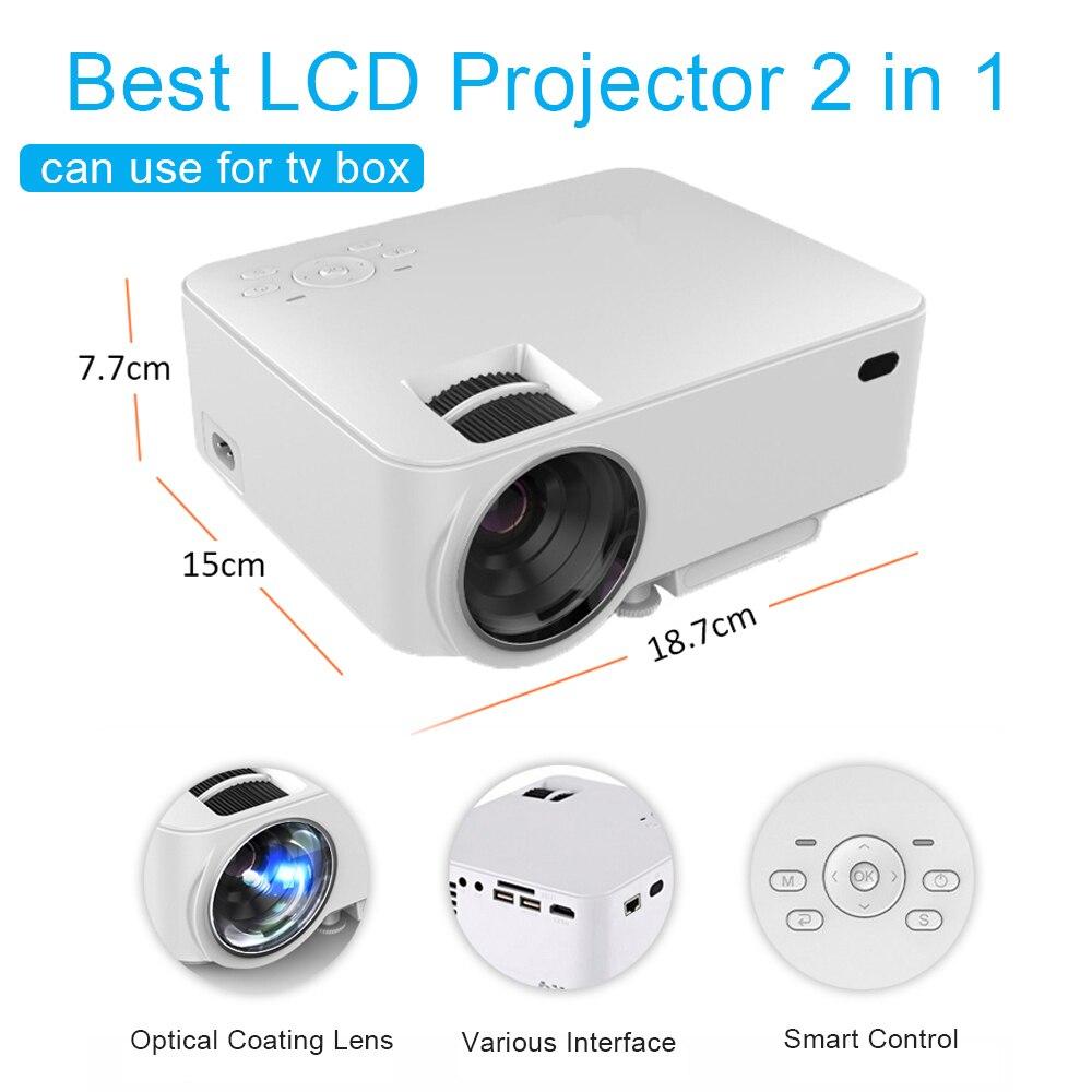 Prix pour LCD Android LED Projecteur HD Mini 1080 P Projecteur Construit dans Android 4.4 Wifi Bluetooth 1500 Lumens Soutien DLNA Airplay HDMI AV