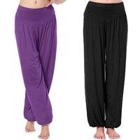 Hot Sale Women Long Pants Harem Youga Modal Dancing Trouses Wide Belly Dance Comfy Boho Pants