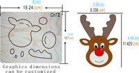 deer head Wooden die Christmas scrapbook MY