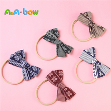 1pcs Nylon Baby Girls Headbands for Children Bow Head Bands Turban Bows Hair Accessories Girl Gift Drop Shipping