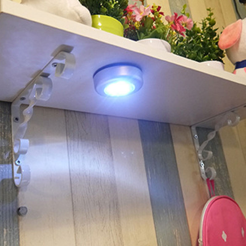 New High Quality Mini Wall Light Car Kitchen Cabinet Light 3 LED Wireless Push Touch Lamp