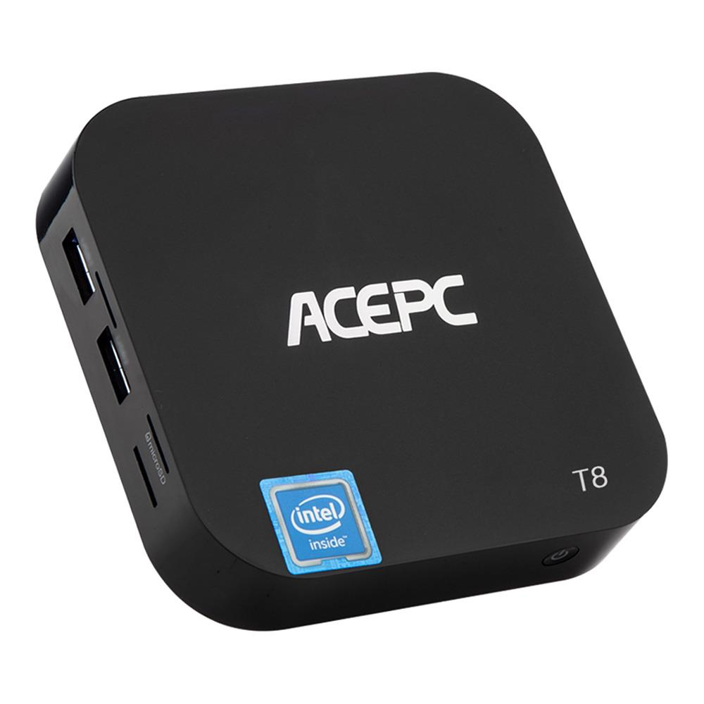 ACEPC T8 tv box Windows 10 Intel Atom x5-Z8350 2GB/32GB 4K Mini PC 802.11b/g/n WiFi LAN Bluetooth USB3.0 HDMI smart tv box