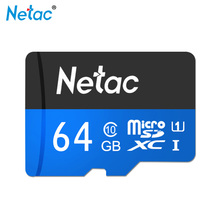 100% Original Newest Netac Micro SD Card UHS-I SDXC 64GB TF Card SDHC U1 32GB 16GB Flash Memory Card Class 10