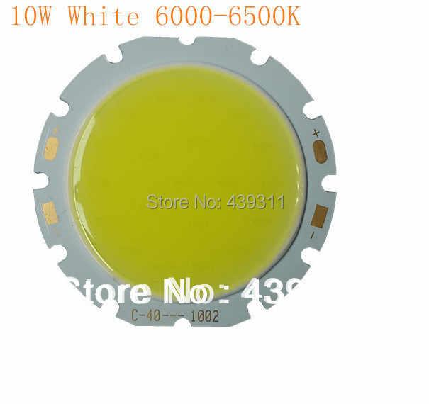 10W COB светодиодный теплый белый 3000 3200K чистый 6000 6500K 300mA 29 36V 850 950LM S чип Бесплатная